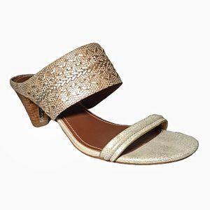 Donald J. Pliner Leather Slides *New* 8.5